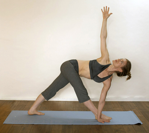 Image result for twisting triangle pose