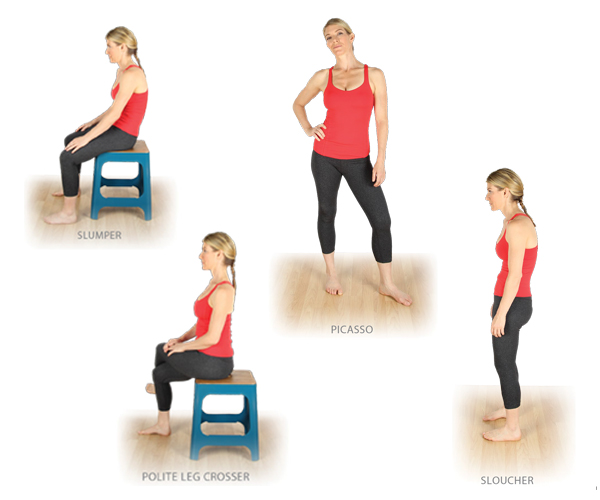 examples of common poor posture stances