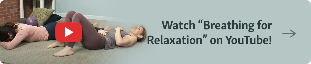 "Button with caption ""Watch ""Breathing for Relaxation"" on Youtube"