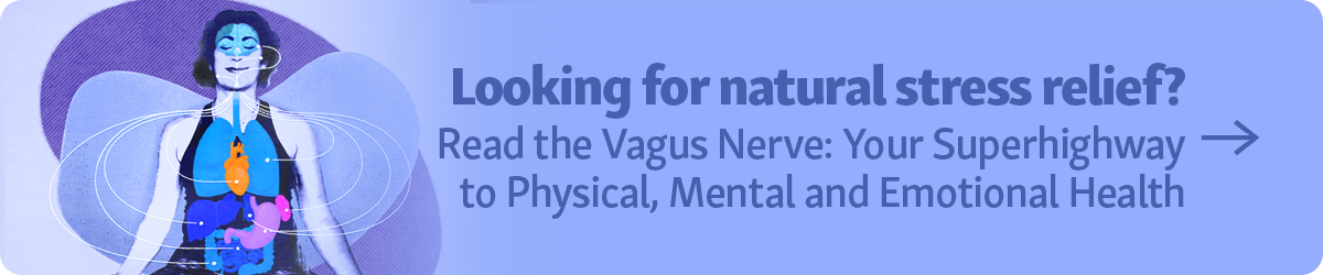 """Looking for natural stress relief? Read the article """"Vagus Nerve: Your Superhighway to Physical, Mental and Emotional Health"""